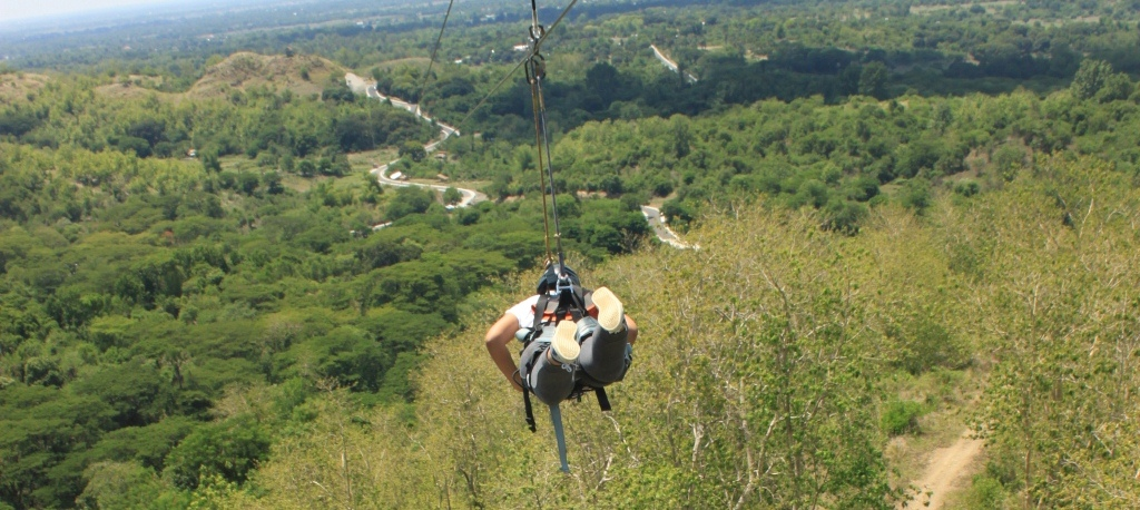 The country's longest zipline, stretching 1.4 kilometers